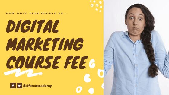 Digital Marketing course fee in India